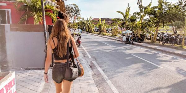 Wandering the streets of Canggu, Bali, Indonesia