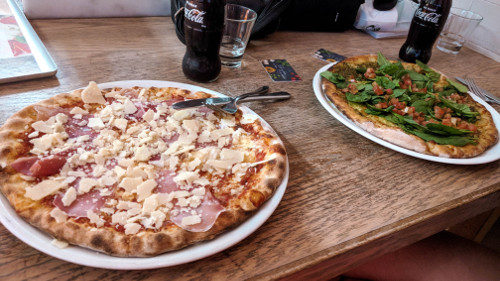 Pizza at Vapiano in Brisbane, Australia