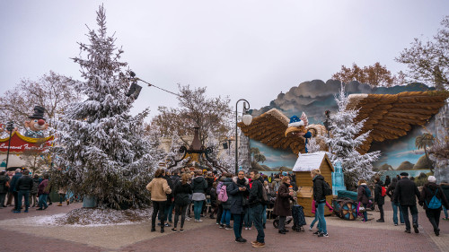 Carnaval Festival Square in the Winter Efteling
