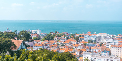 View over Arcachon Bay in South West France