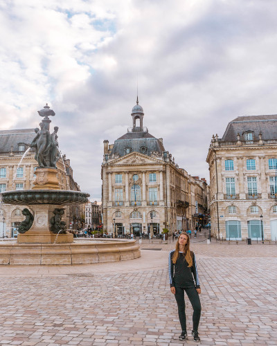Place de la Bourse in Bordeaux, France
