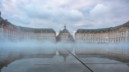 Miroir d'Eau in Bordeaux, France