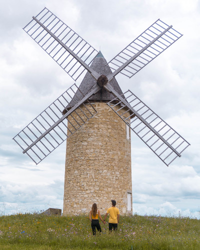 Windmill in Lamarque, South West France