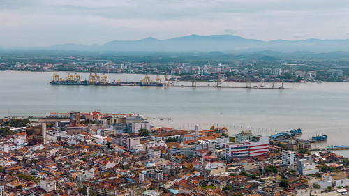 View from the Top of Komtar Tower in George Town, Penang