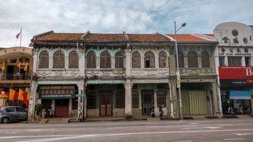 Pre-war buildings in the UNESCO World Heritage Site in George Town, Penang