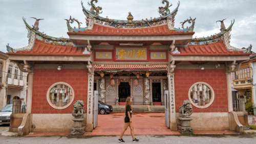 Temple in the UNESCO World Heritage Site in George Town, Penang
