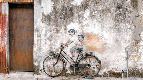Street art in the UNESCO World Heritage Site in George Town, Penang