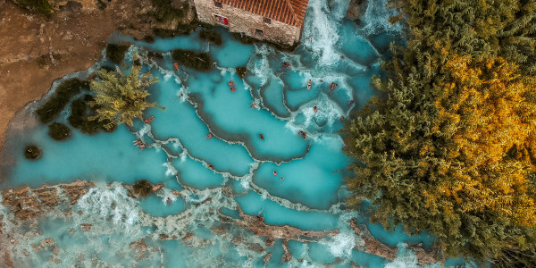 Thermal Hot Springs in Saturnia - Cascate del Mulino