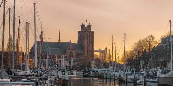 Sunset in Dordrecht, the Netherlands