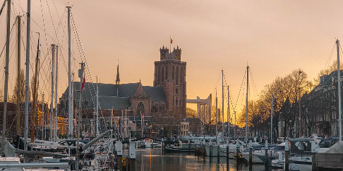 Sunset in Dordrecht, the Netherlands
