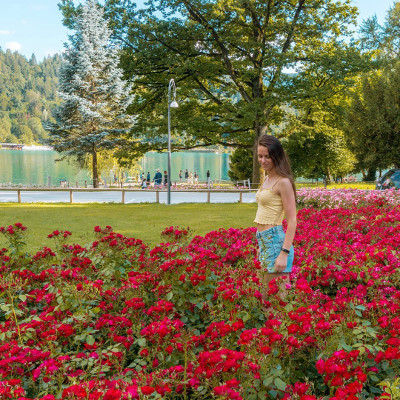 Flowers in Bled, Slovenia