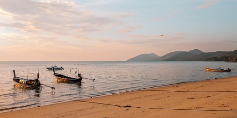 Sunrise at the beach in Koh Yao Yai, Thailand
