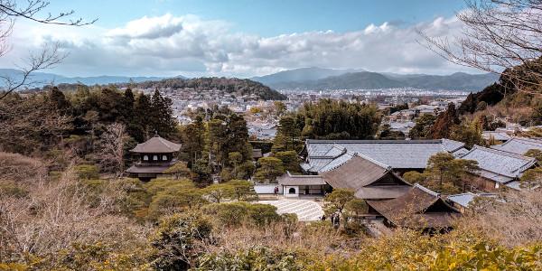 Viewpoint Ginkaku-ji in Kyoto, Japan