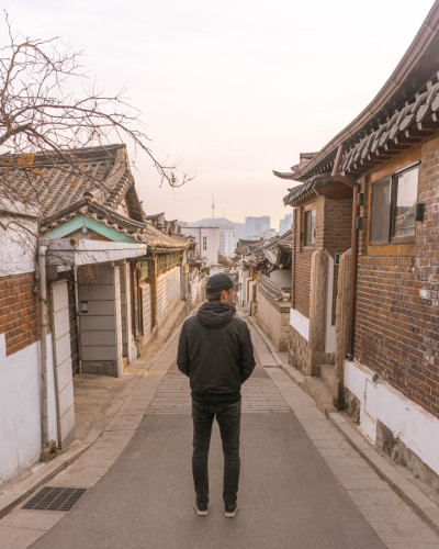 Bukchon Hanok Village in Seoul, Korea