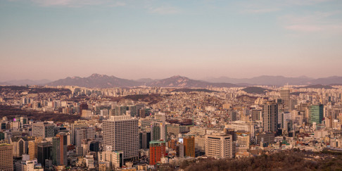 View over Seoul from Namsan Park