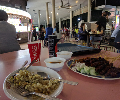 Places to Eat in Singapore Hawker Centre Satay by the Bay