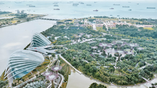View of Gardens by the Bay, Singapore