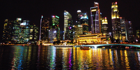 Singapore Marina Bay Skyline at Night