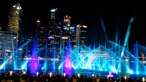 Singapore Spectra Light Show at Marina Bay