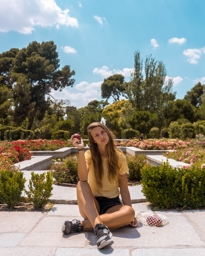 Instagrammable Place Rose Garden in Retiro Park, Madrid, Spain
