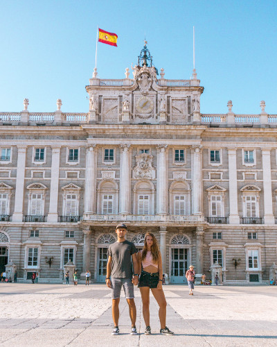 Instagrammable Place Royal Palace in Madrid, Spain