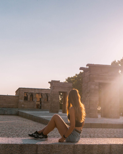 Instagrammable Place Temple of Debod in Madrid, Spain