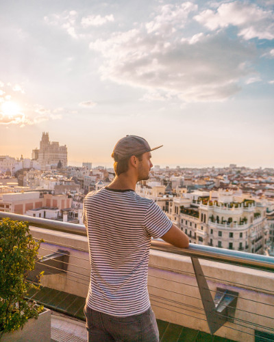 Instagrammable Place Rooftop Bar Azotea del Circulo in Madrid, Spain