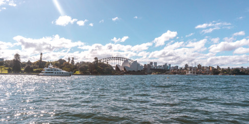 Sydney Opera House from the Royal Botanic Gardens, Australia