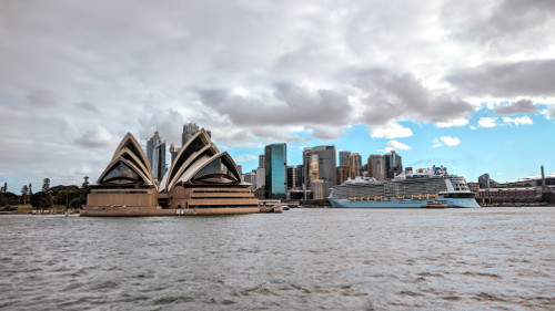 Sydney Opera House from the ferry, Australia