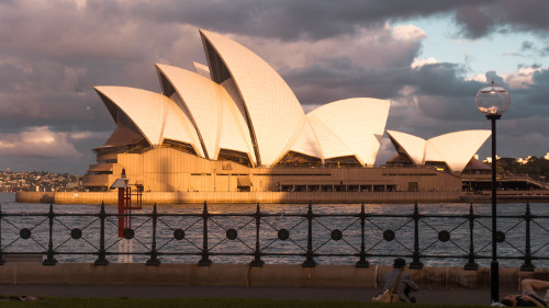 Sydney Opera House from the Hickson Road Reserve, Australia