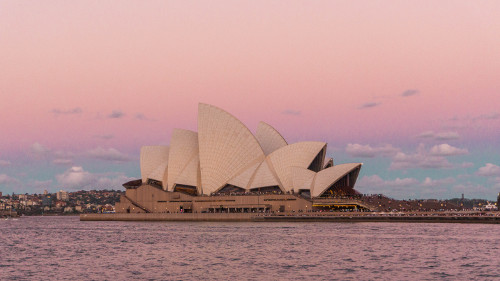 Sunset at the Sydney Opera House from the Overseas Passenger Terminal, Australia
