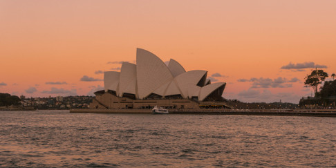 Sunset at the Sydney Opera House, Australia