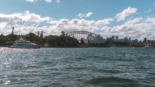 View from the Royal Botanic Garden in Sydney, Australia
