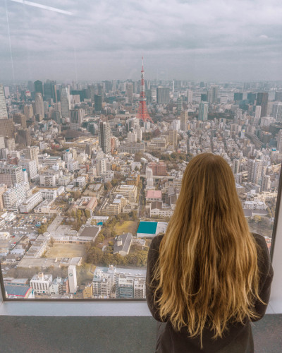 View from the Mori Art Museum in Tokyo, Japan