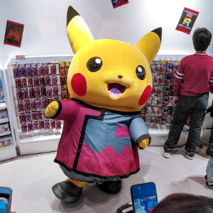 Pikachu at the Pokemon Center SkyTree Town in Tokyo, Japan
